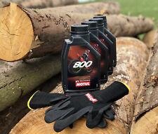 4Liter Motul 800 2T Factory Line Offroad Racing 2-Takt Motorradöl gratis Gloves