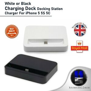 White or Black Charging Dock Docking Station Charger  For iPhone 5 5S 5C