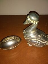 2-Vintage Silver-Plated Duck/Football Banks