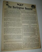 Vintage 1940 Burlington Booster Co. Newsletter Zephyr Chicago Quincy FREE Ship