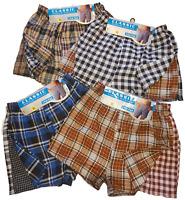 Men Woven Boxer Shorts Cotton Rich Comfort Fit Underwear 6-12 pack  S M L
