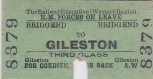 British Railways Ticket BRIDGEND 8379