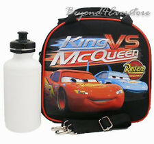 Disney Cars Lunch Bag Insulated w/ Shoulder Strap & Water Bottle for Kids