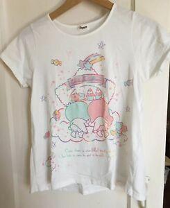 Sanrio Little Twin Stars Tshirt Kiki Lala Japan Import Used