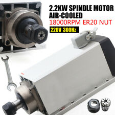 Us Ship 22 Kw Air Cooled Spindle Motor 18000rpm Er20 For Cnc Machine Square
