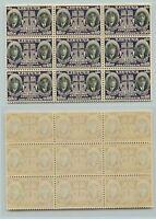 Lithuania, 1934, SC C81, MNH, block of 9. d814