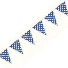 BLU Pois A Pois Plastica partito Bunting flag per le parti Baby Shower!