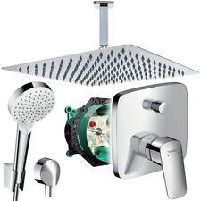 Unterputz Duschsystem mit Kopfbrause 300 x 300, Hansgrohe Logis Deckenanschluss