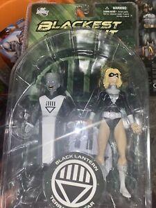 DC Direct Blackest Night 7 BLACK LANTERN TERRA & SCAR Action Figure Green