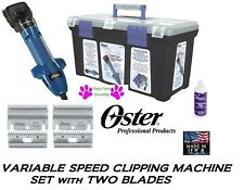 OSTER CLIPMASTER VARIABLE SPEED CLIPPER KIT-2 BLADES,Oil,TOOLBOX/CASE Horse,Dog