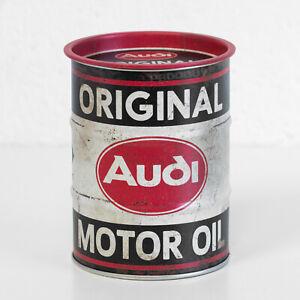 Small Retro Money Tin Audi Motor Oil Barrel Coin Saving Change Piggy Bank Box
