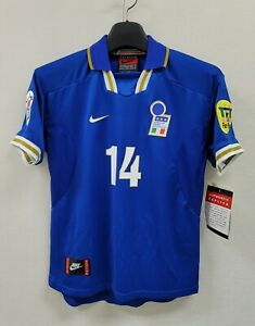 1996 ITALY Home S/S No.14 DEL PIERO EURO 96 Jersey shirt trikot 96-97 Boys XL