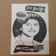 Sex Pistols Jamie Reid God Save The Queen ORIGINAL 1977 Promo Flyer + COA Punk