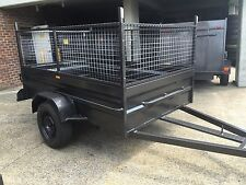8x5 box trailer with 600mm cage 12 months NSW private rego