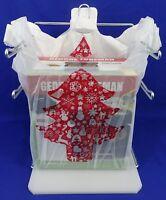 """Christmas Tree Holiday T-Shirt Plastic Shopping Bags Handles  11.25"""" x 6"""" x 21"""""""