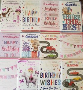 24 GRANDDAUGHTER/GRANDSON CARDS WHOLESALE/JOBLOT GREETINGS CARDS