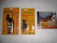 3pcs-Carltons Lonesome Cow Elk Call+Bugling Cd+Bull Elk in-Rut Urine Cover Scent