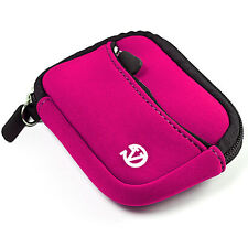 Magenta MIni Neoprene Compact Digital Camera Case Cover Bag for Canon Nikon Sony