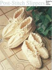 *Adult & Child Post-Stitch Slippers crochet PATTERN INSTRUCTIONS