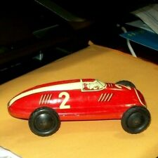 Vintage Friction Tin Toy Race Car US-Zone Germany 1948 Works EXC
