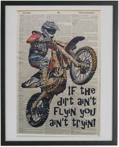 Motocross Wall Print No.154, dictionary prints, dirt bike posters