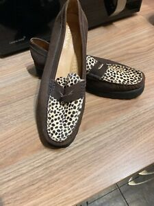 Ladies Brand New Jones Leopard Print Loafers Shoes Size 39/6