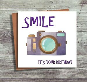 Camera Birthday Card Photographer For Her Smile Its Your Birthday