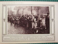 1915 WWI WW1 PRINT ~ SIBERIAN INFANTRYMEN IN FIELD-SERVICE EQUIPMENT AT WARSAW