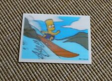 The Simpsons Magical Motion/Holographic Card - Bart surfing- (Panini)