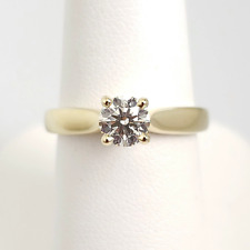 18K Yellow Gold Hearts on Fire Solitaire Ring .58ct AGS Certified
