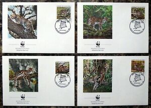 EL SALVADOR 1988 WWF Set of 4 Souvenir FDC's with Special Cancel DM150