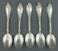 5 Pieces Watson Altair Sterling Silver 5 O Clock Spoons 79.5 Grams 1904 Pattern