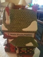 1988 Dept 56 Heritage Dickens Village T. Wells Fruit and Spice Shop