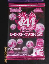 DRAGON BALL Z DBZ HEROES PROMO CARD 13th TOURNAMENT JPB 1 PACK SEALED BANDAI DBH