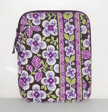 Vera Bradley Plum Petals Purple Green Floral Ipad Tablet Zip Pocket Case Sleeve