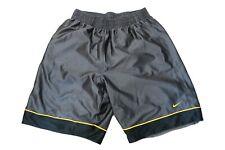 Nike Shorts Gr. L Hose Basketball Sporthose Swoosh GRAU GELB  WS1