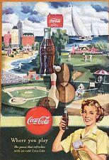 1950's Coca-Cola Magazine Ad Coke Print. (not Original)