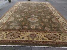 Traditional HandMade Natural Dye Afghan Zigler Wool Green Large Carpet 437x303cm