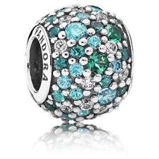 NEW Authentic Pandora Sterling Silver Ocean Mosaic Pave Charm Bead 791261MCZMX