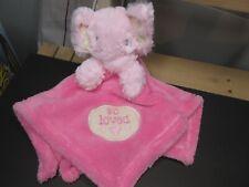 Baby Gear Pink Fleece Elephant Lovey Security Blanket 15X15 New