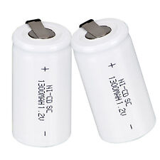 Generic 2pcs 1.2V 1300mAh SubC SC Ni-Cd NiCd Rechargeable Battery Nicd Batteries