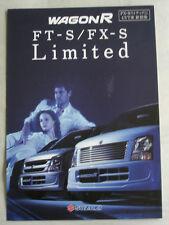 Suzuki Wagon R FT-S/FX-S Limited brochure c1999 Japanese text