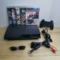 Sony PlayStation PS3 Slim 320GB Bundle~ 5 Games, 1 Controller, #TESTED, WORKS#