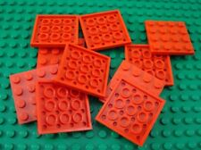 LEGO Lot of 10 Red 4x4 Flat Plates