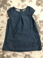 NEXT Girls denim Dress Size 9-12 Months 0