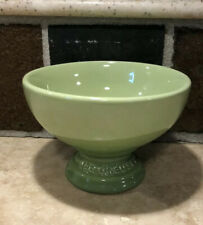 """""""Palm"""" Green LE CREUSET Footed Ice Cream Dessert Bowl NWOT Sorbet Collection"""