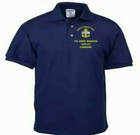 USS JAMES MADISON  SSBN-627 SUBMARINE EMBROIDERED LIGHTWEIGHT POLO SHIRT