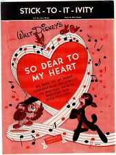 Stick To It Ivity 1948 So Dear To My Heart Sheet Music