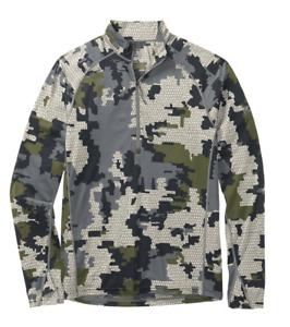 Kuiu Ultralight Hunting Camo Peloton 118 Zip-T Sweatshirt Jacket XL - Verde 2.0