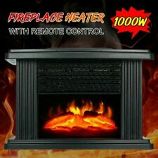 1000W Electric Fireplace Stove New Heater Portable Tabletop Indoor Space Heater